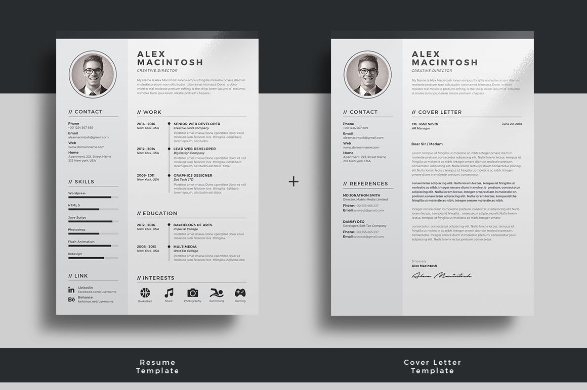 professional resume template by themedevisers on