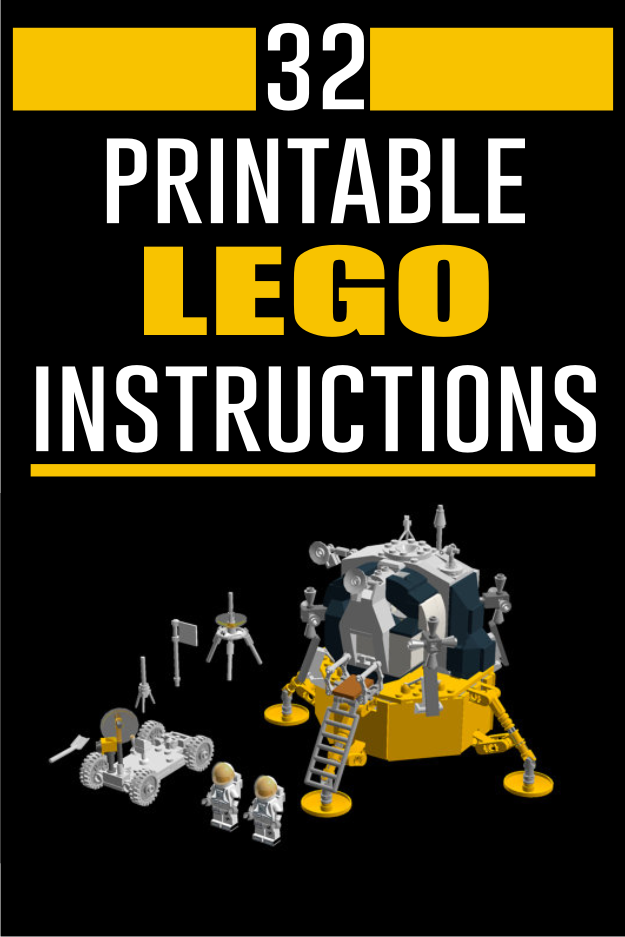 These Are Lego Building Instructions For My Design Of The Apollo Lunar Module Built To Minifig Scale They Lego Building Instructions Custom Lego Lego Models