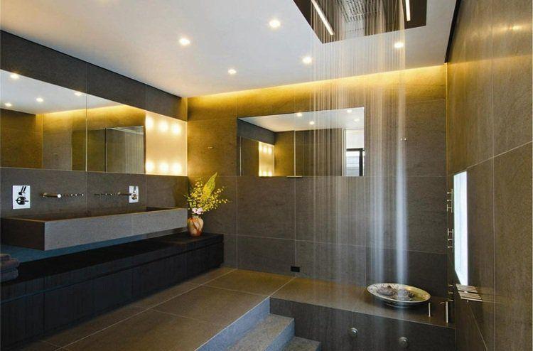 salle-bains-spots-led-éclairage-indirect-douche | Inspiration Salle ...