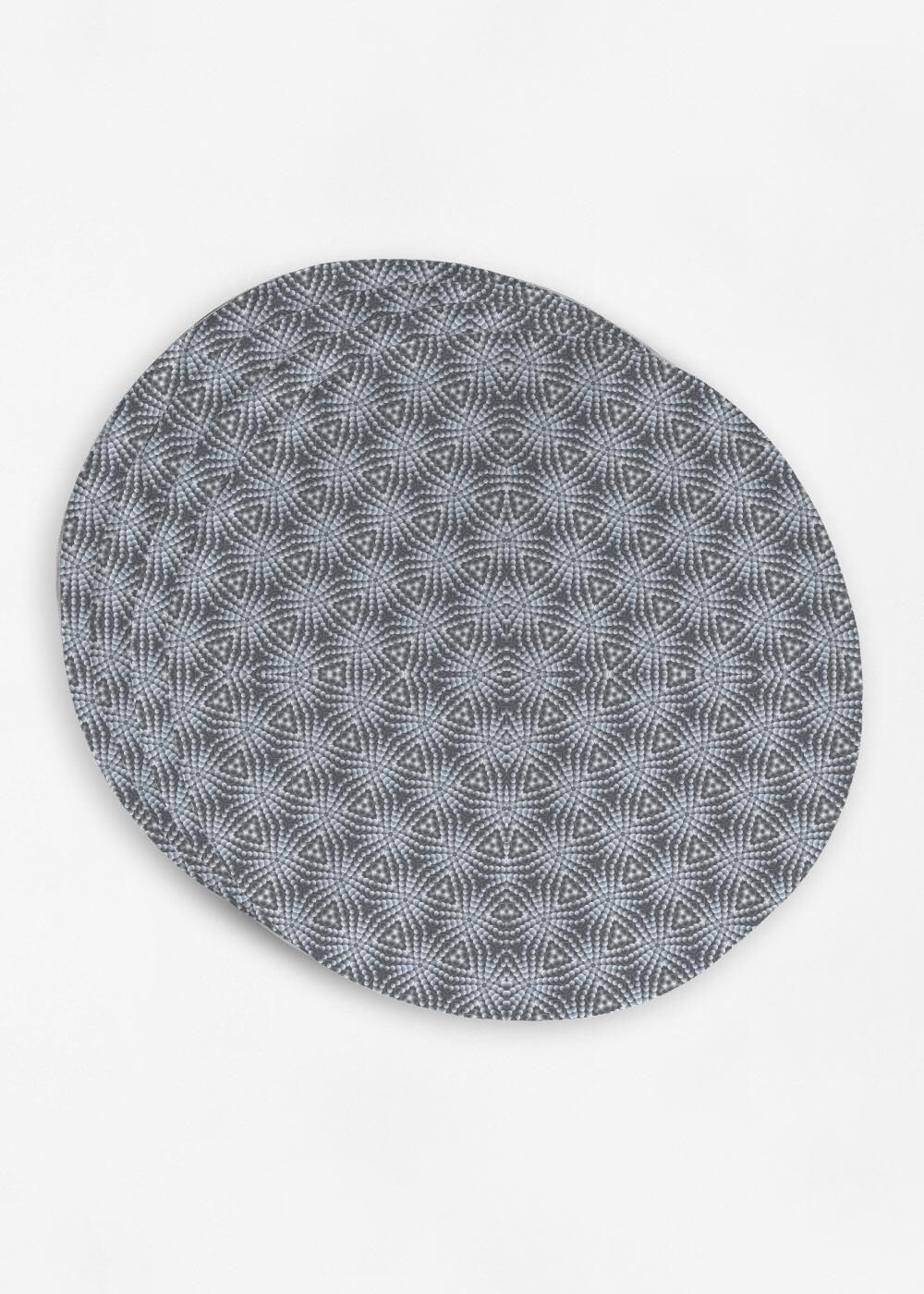 Grey Geometric Fractals Geometric Placemat Sets Placemats
