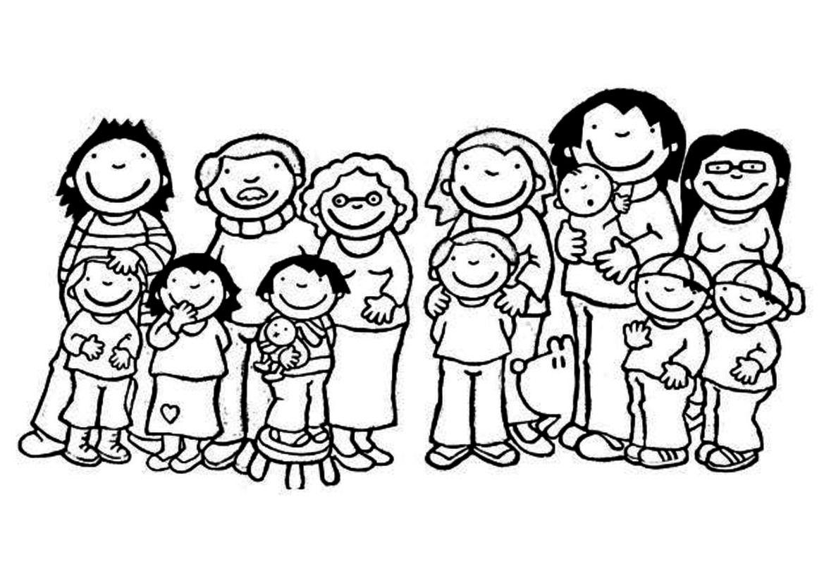 kleurplaat met familie knutselen familie familie