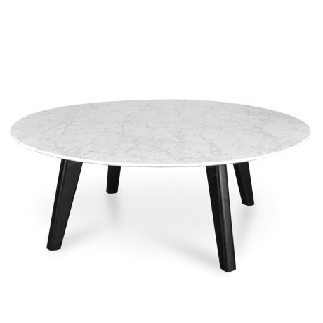 Hunter 100cm Marble Coffee Table with Black Legs | Coffee table, Marble coffee table, Marble ...