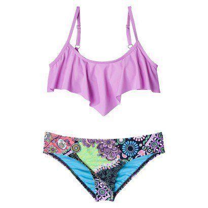 target juniors 2piece bikini swimsuit lilacf 1499