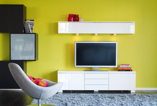White Gloss TV Stand | For the Home | Pinterest | Tv stands, Media ...