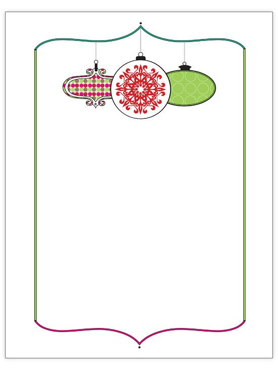 Free Christmas Letter Templates  Christmas Letters Ornament And
