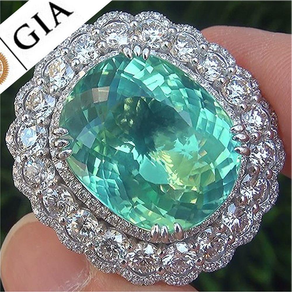 GIA 25.64 ct VVS1 Natural Paraiba Tourmaline Diamond