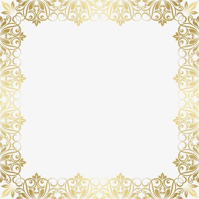 Gold Pattern Gold Frame European Border Gold Frame Gold Pattern Frame Layout