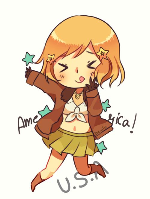 fawn-maiden:  Amerika-san(^ O ^)♡