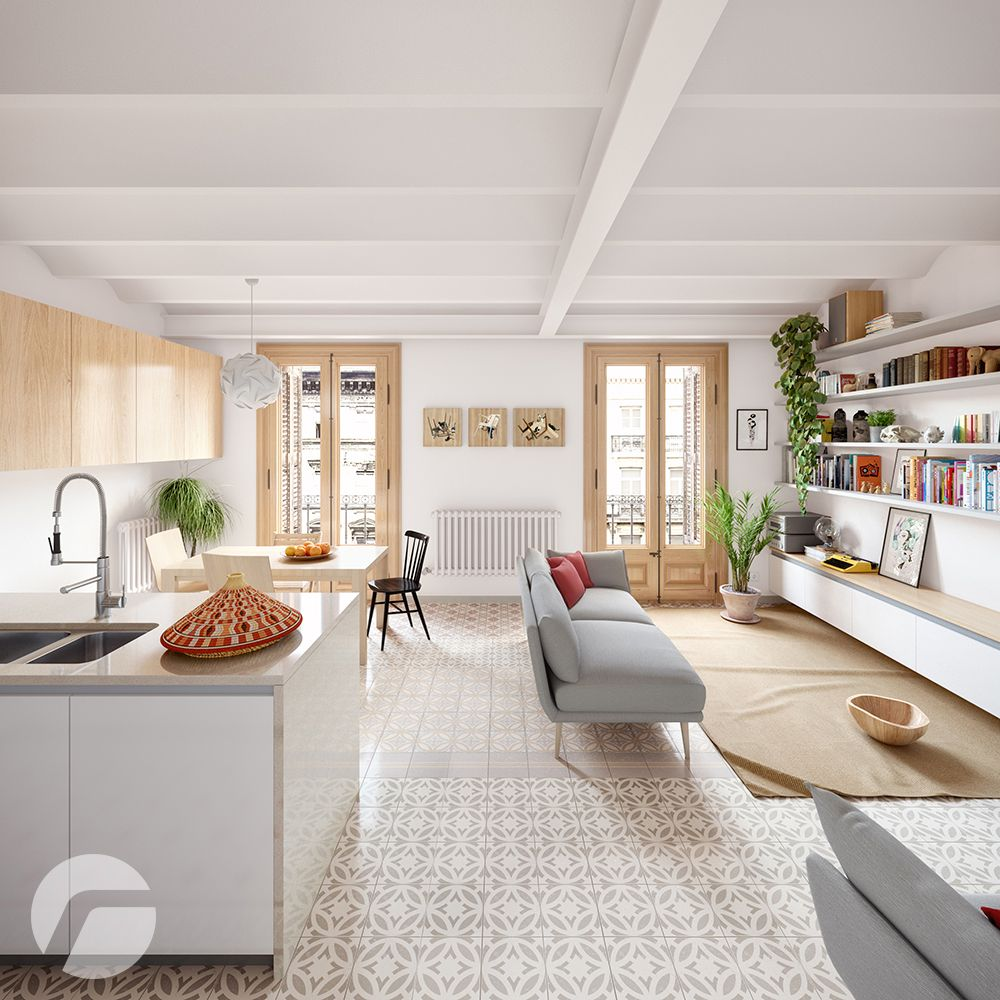 Apartment in Barcelona on Behance