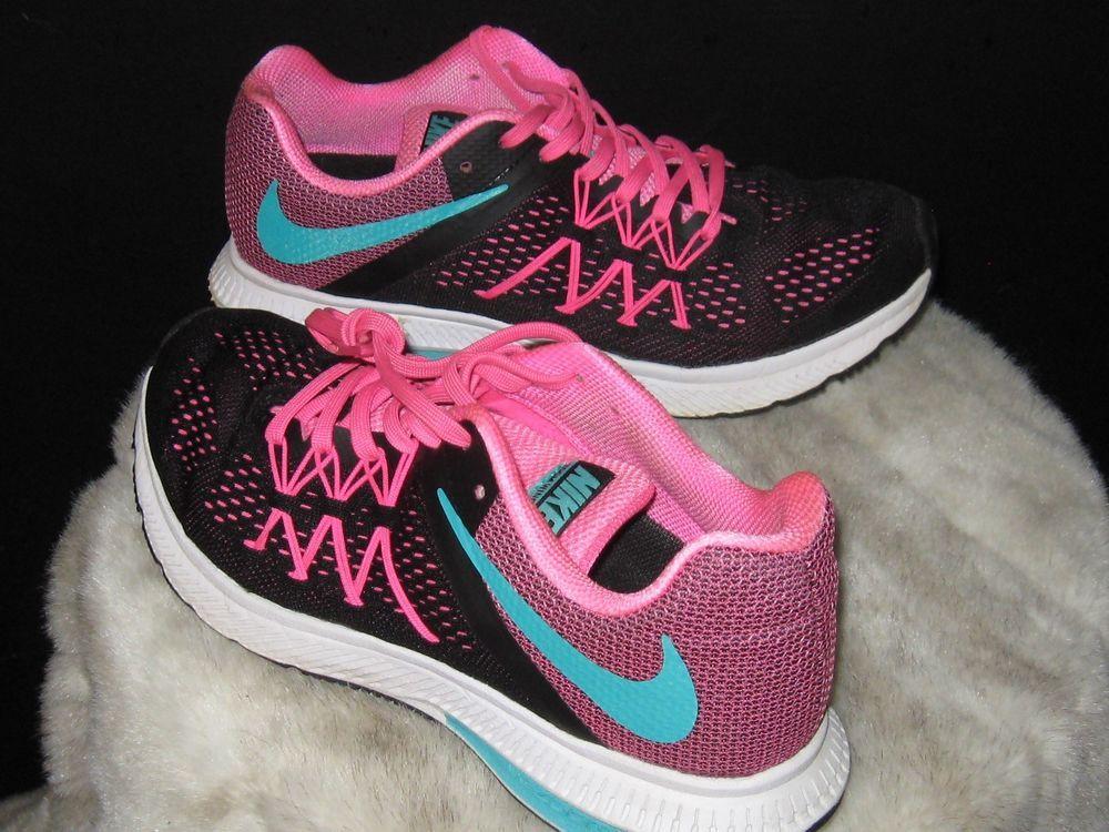 Women s Nike Zoom Winflo 3 Running Sneakers Sz 8.5 831562-004 Pink Black  cf8cd7f7c6b3