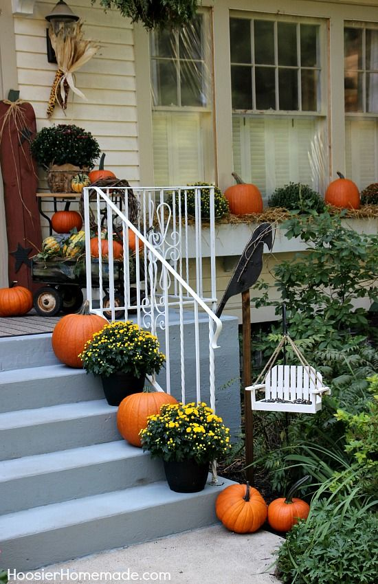 Fall Outdoor Decorating Holidays halloween and Decorating