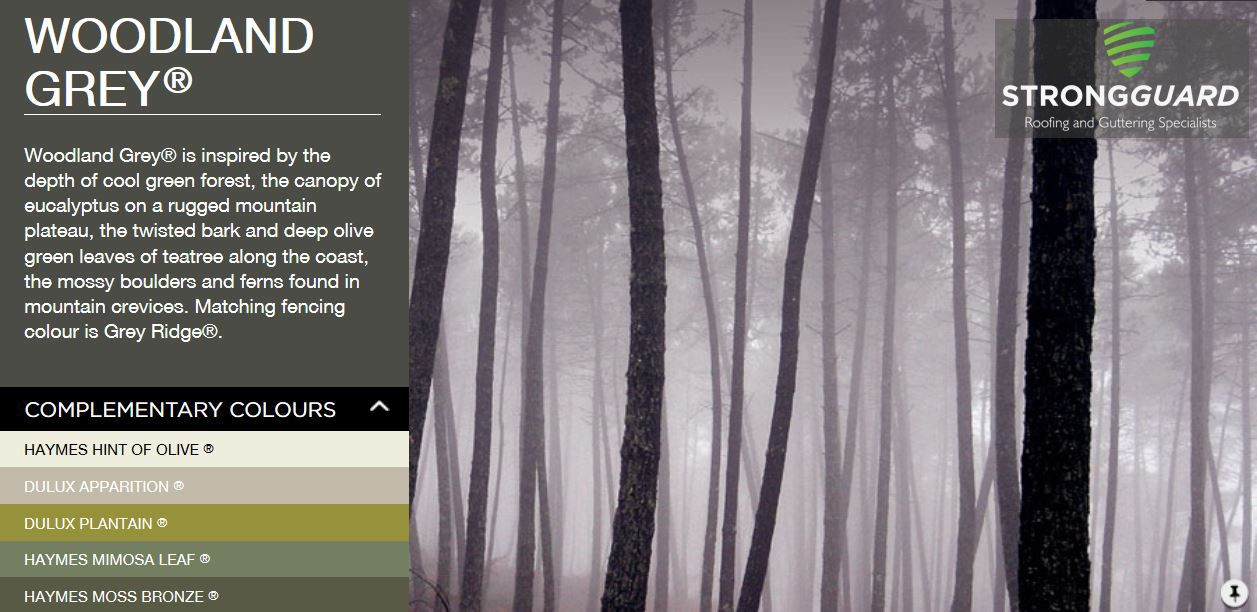 bluescope steel colorbond woodland grey