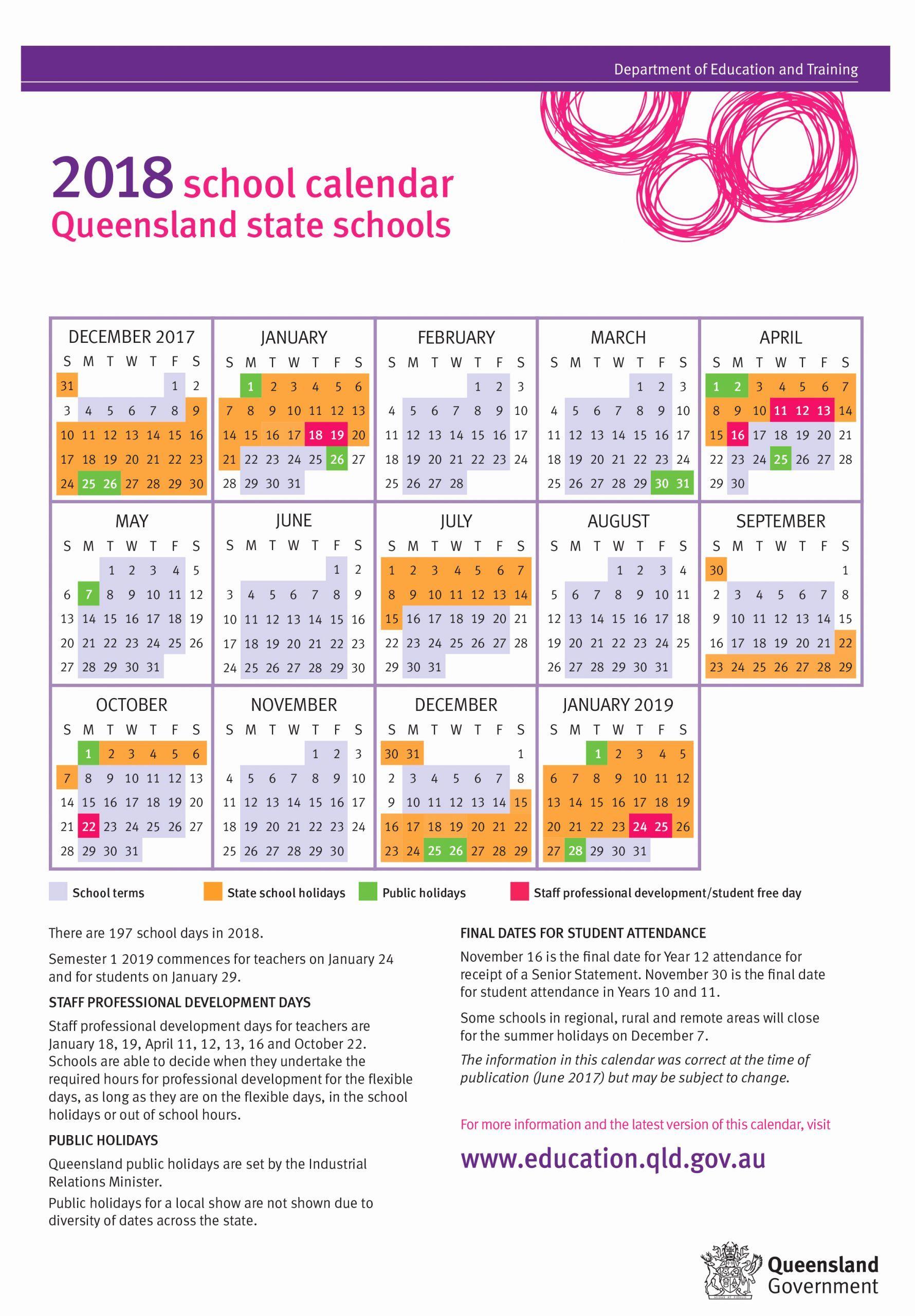 Printable Calendar Queensland 2019 School Calendar State School School Holiday Calendar