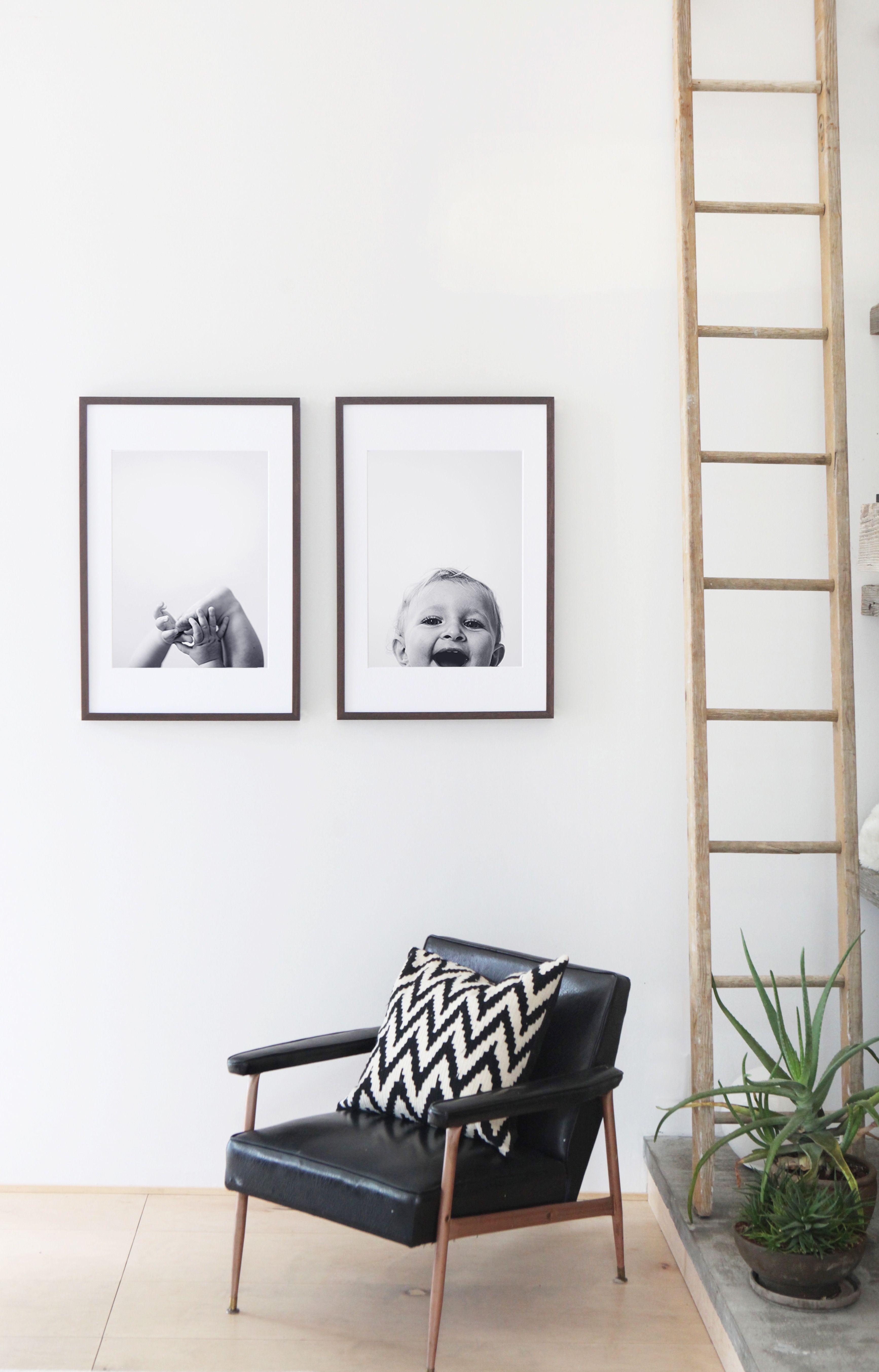 Black and white photo art styled home pinterest custom art