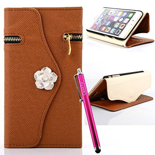 Bekijk alle stijlvolle iPhone hoesjes - #leather iphone case with card holder | iPhone 6 Plus Case, JCmax New Flip [Zipper Feature] Stand Synthetic Leather Wallet Case Cover With Card Holder, Cash Pocket and Wrist Strap For Apple iPhone 6 Plus / iPhone 6S Plus 5.5 inch - http://lereniPhone5hoesjes.nl