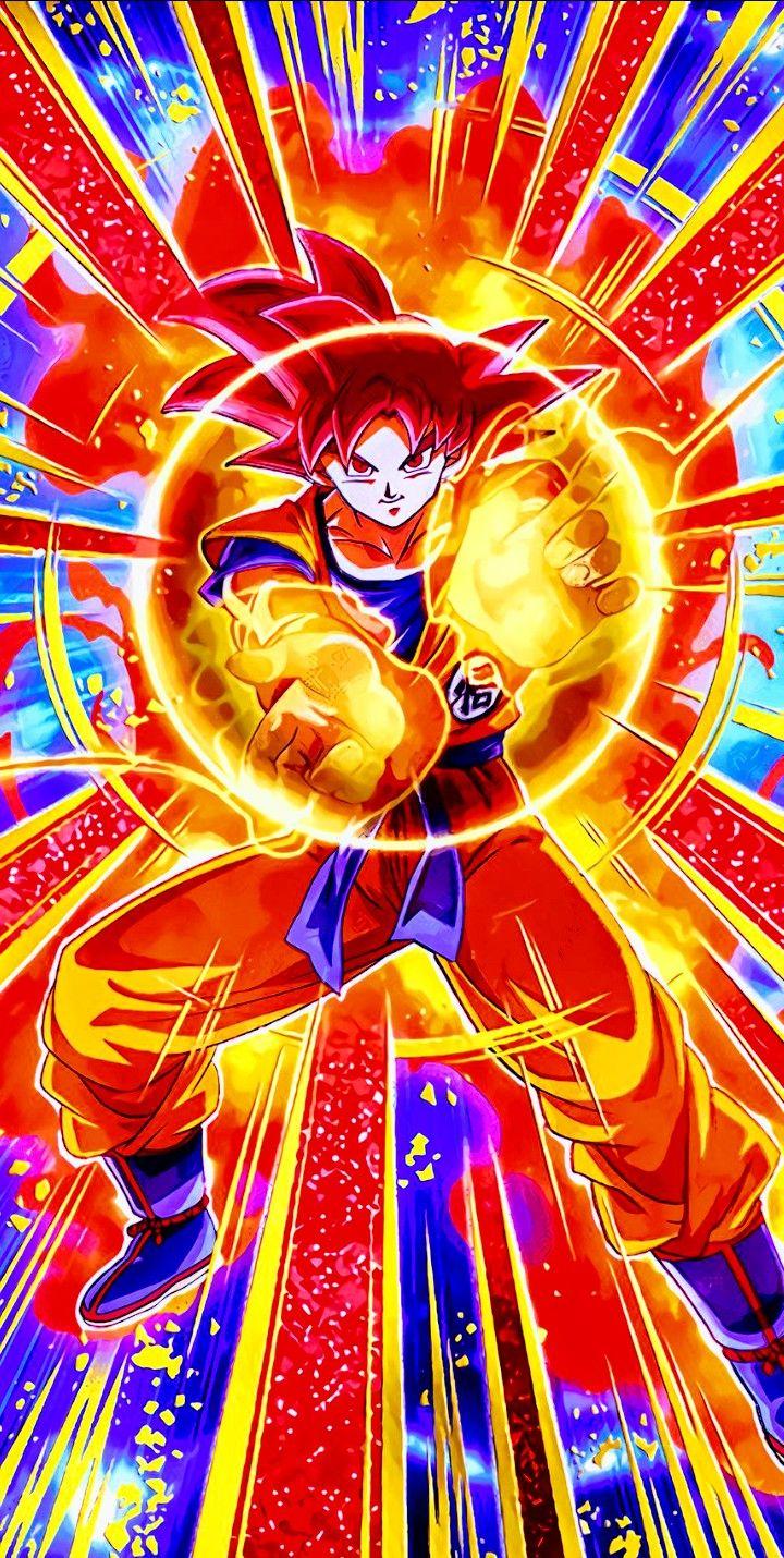 Goku Super Saiyan God Dragon Ball Super Com Imagens Desenho De Anime Papel De Parede De Herois Dragoes