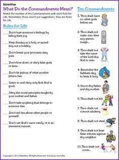 Moses Puzzle (Ten Commandments) - Kids Korner - BibleWise | Catholic ...