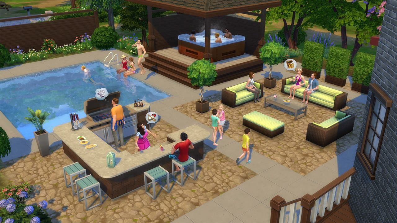 Create A Summer Proof Garden With The Sims 4 Perfect Patio Out Today Sims 4 Penthouse Sims Sims House