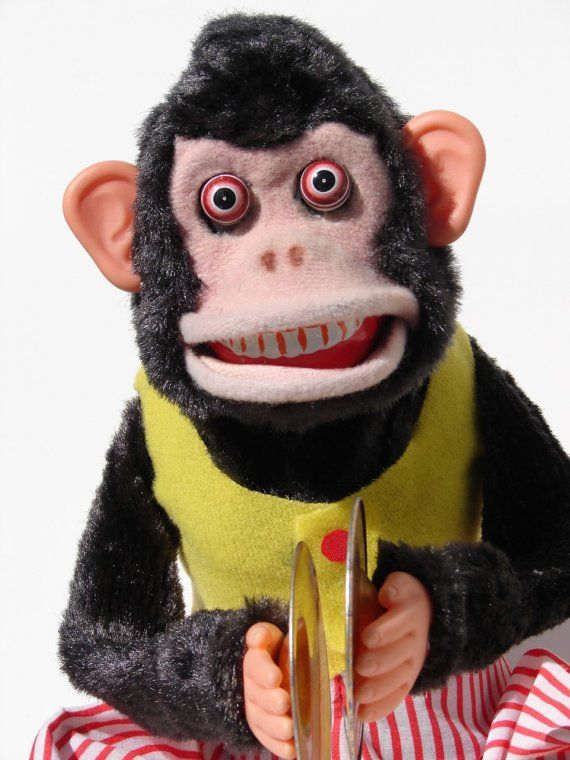 Vintage 1950s Cymbal Playing Jolly Chimp Monkey Toy For Your