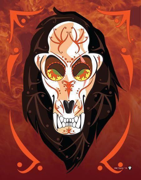 Read the full title Scar Disney Villain Sugar Skull 11x14 Print