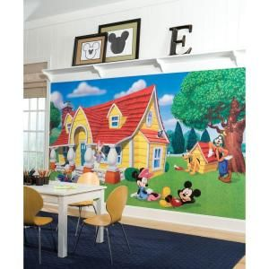 Best Roommates Mickey Friends Chair Rail Prepasted Mural 6 Ft 400 x 300