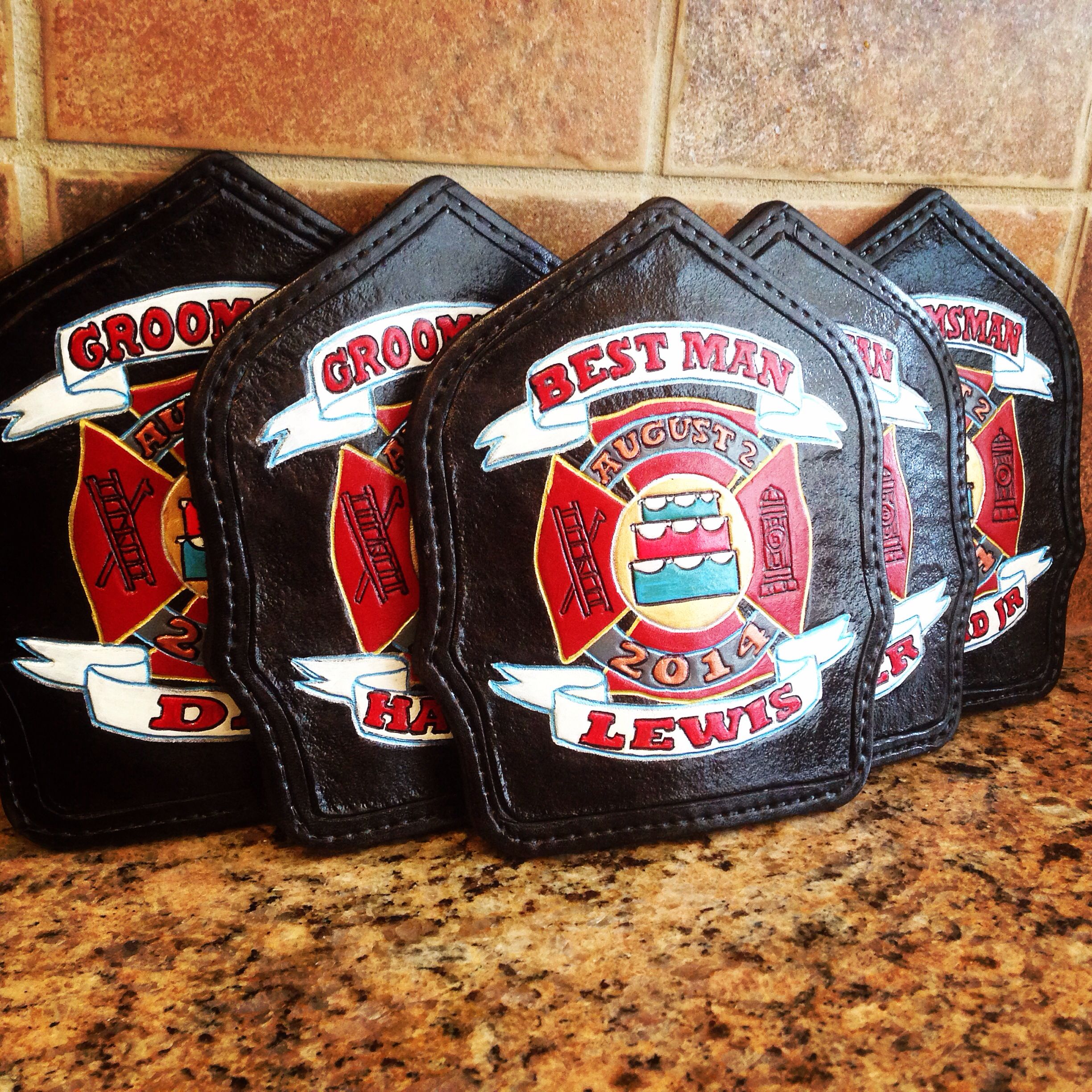Firefighter Wedding Themes Ideas: Custom Shields For A Wedding