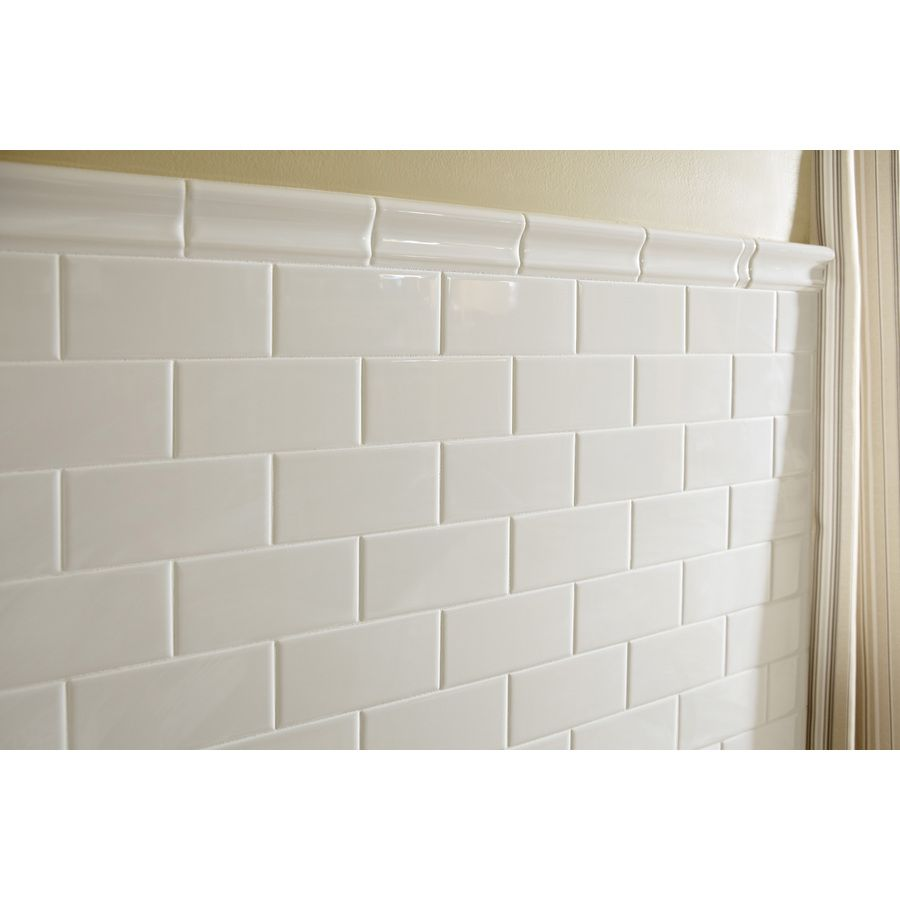 Shop American Olean Starting Line White Gloss Ceramic Wall