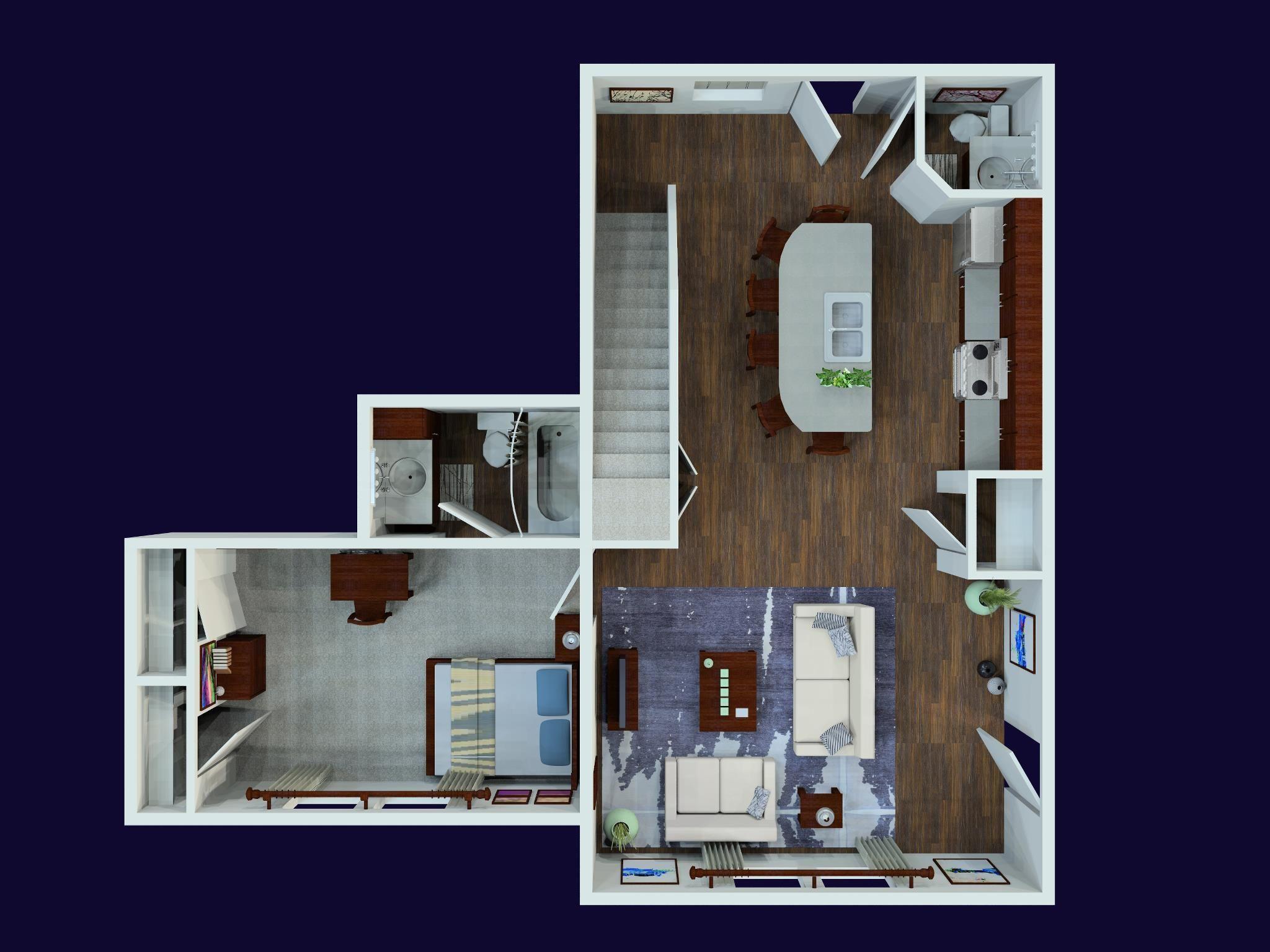 THE AVENUE AT TUSCALOOSA 4 bedroom/4.5 bath floorplan