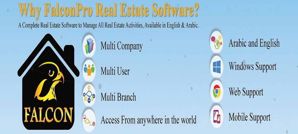 Real Estate Software Dubai, UAE - We at Be falcon Solutions