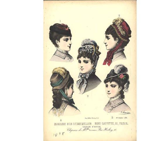 Winter hats, 1878 :: Fashion Plate Collection