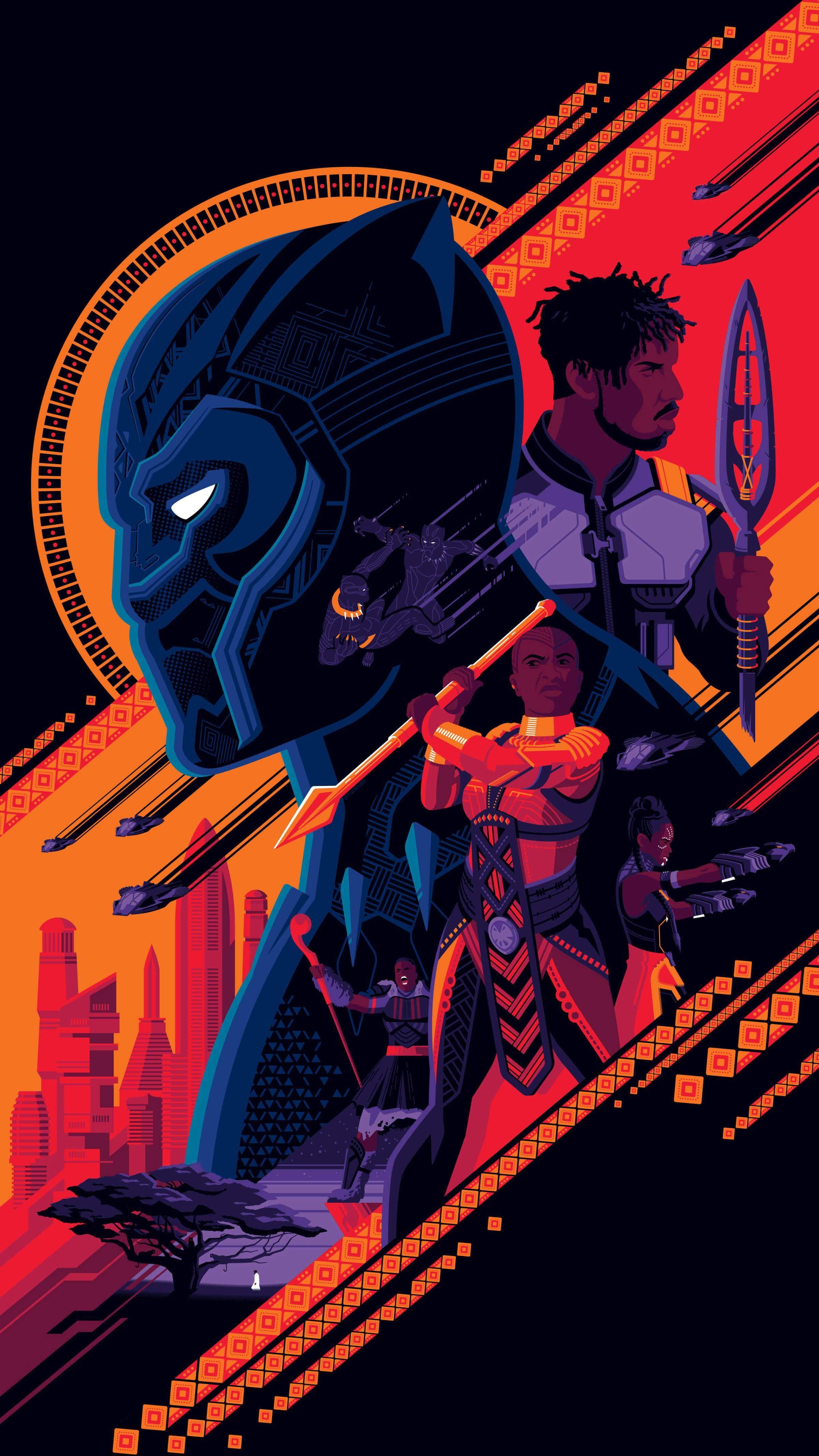 Black panther Wakanda iPhone Wallpaper Check more at https