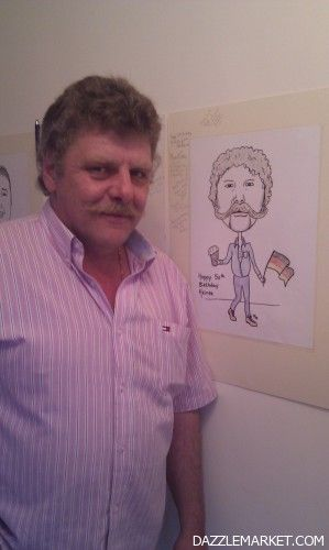 A3 Caricature Signing Boards - Image 1 http://www.dazzlemarket.com/ads/a3-caricature-signing-boards/