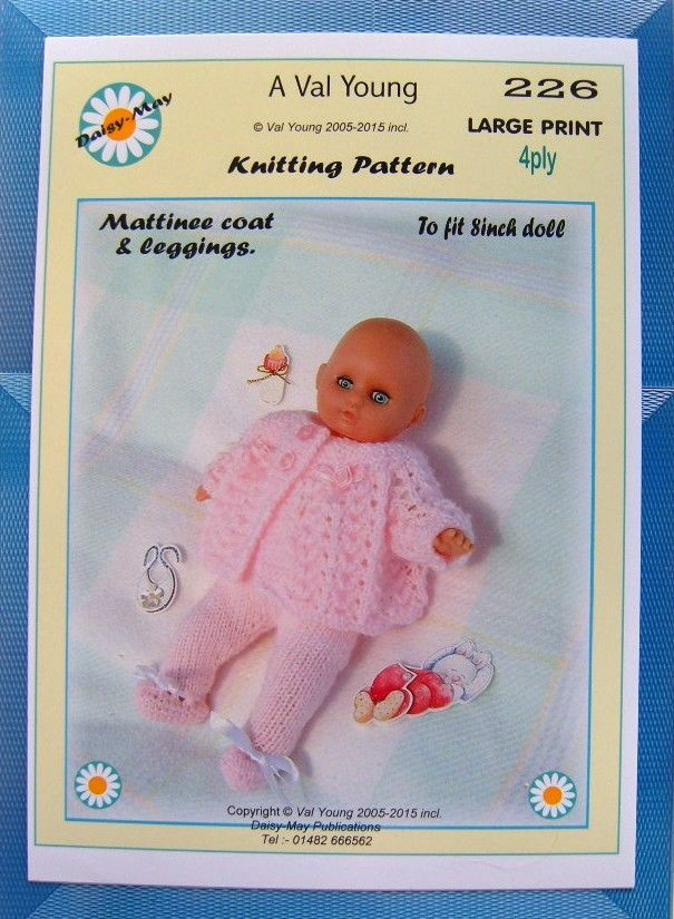 3 DOLLS KNITTING PATTERNS 4 AN 8 inch DOLL*by DAISY-MAY* 224 225 226 ...