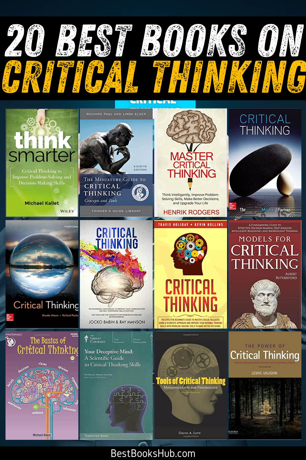 20 Best Books on Critical Thinking (2021 Review) - Best Books Hub