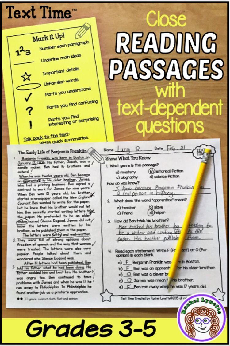 No Prep Close Reading Close Reading Comprehension Reading Comprehension Passages Close Reading Passages [ 1125 x 750 Pixel ]