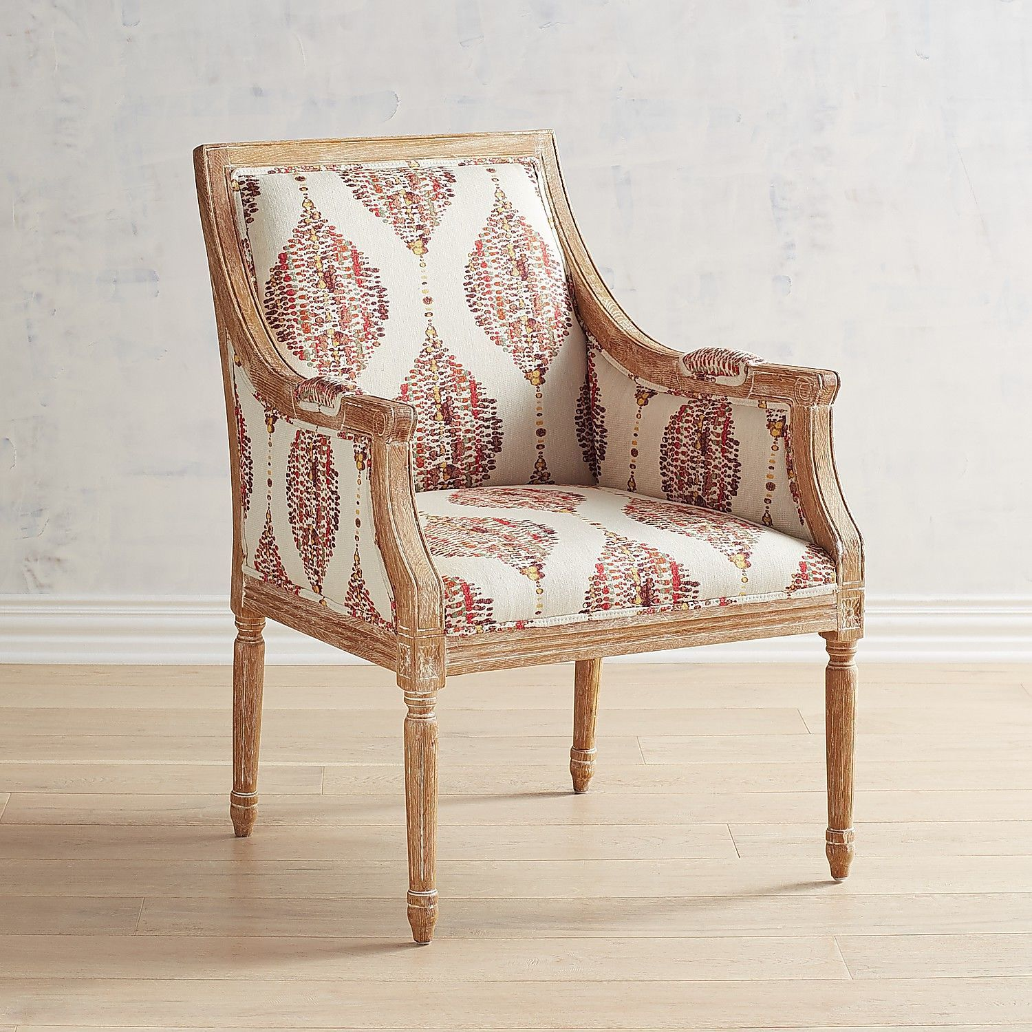 Blyer Chair With Natural Whitewash Wood Pier 1 Imports With