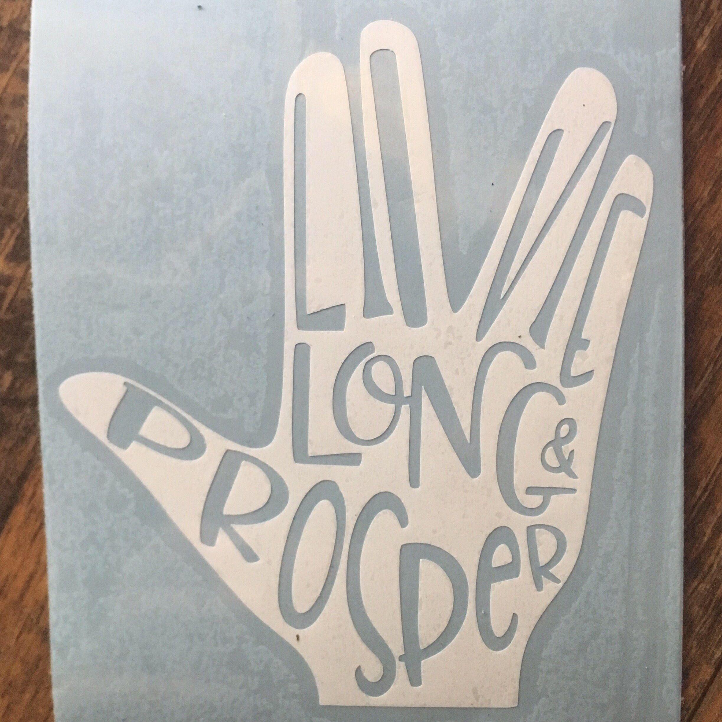 Spock Vulcan Star Trek Inspired Live Long And Prosper Car Laptop Or Decor Vinyl Decal By Owliecupcakedesigns On Vulcan Star Trek Inspired Living Star Trek [ 2446 x 2446 Pixel ]