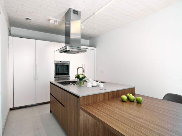 massivholz-kochinsel designer-küche eingebaut-einrichtungsideen - modern küche design