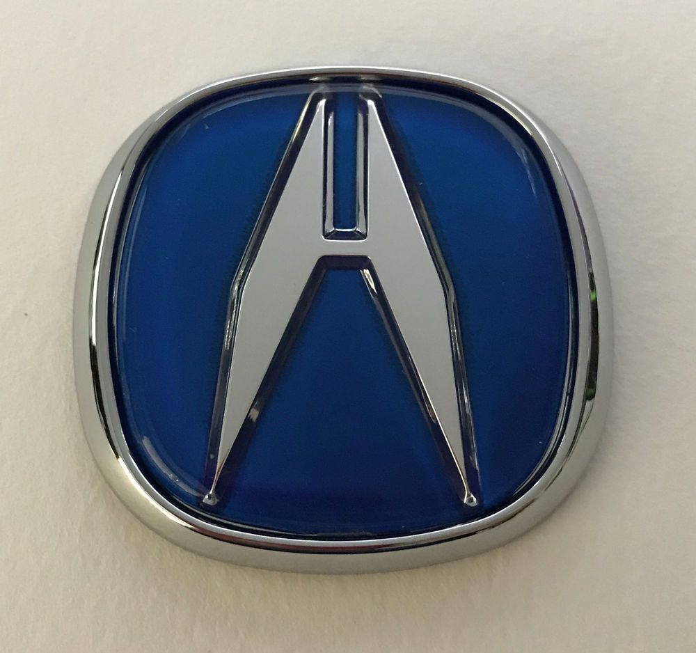 "Blue Acura Integra Type R Trunk Grille Hood Badge ""A"