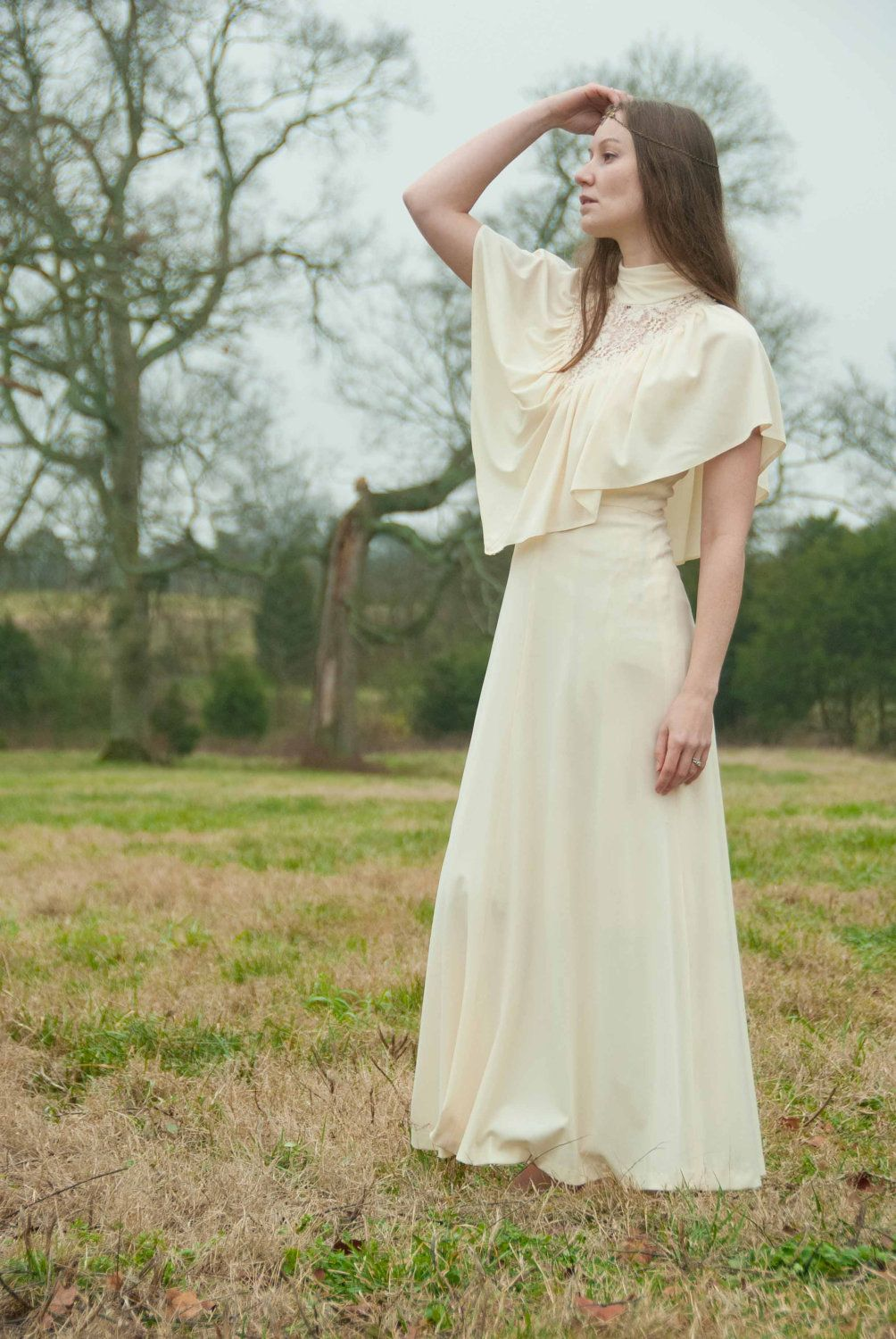 S boho dress boho wedding dress spring fashion cream