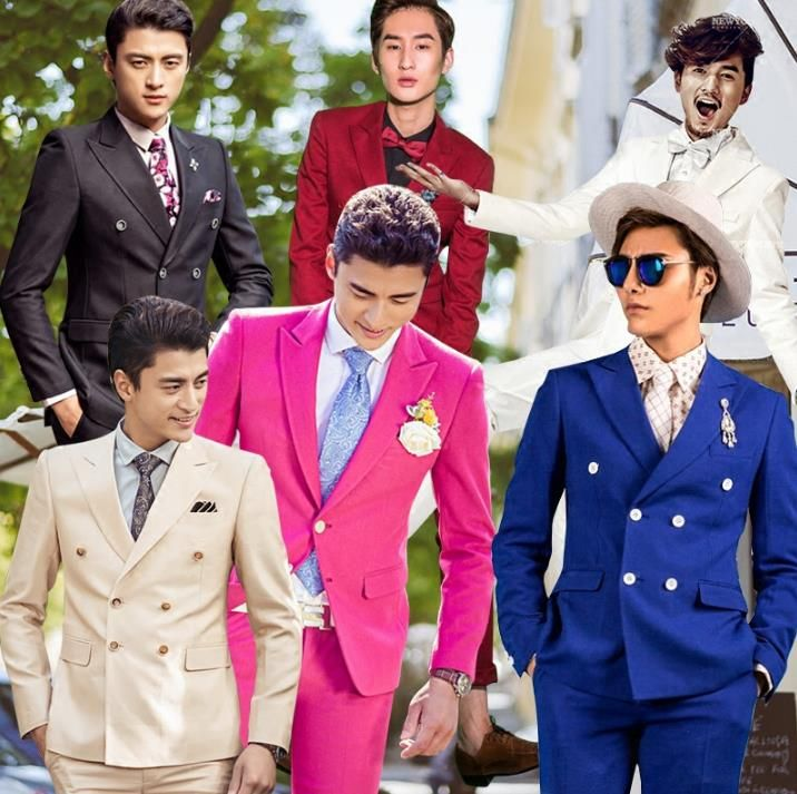 Click to Buy << Two-piece set blazer men formal dress double ...
