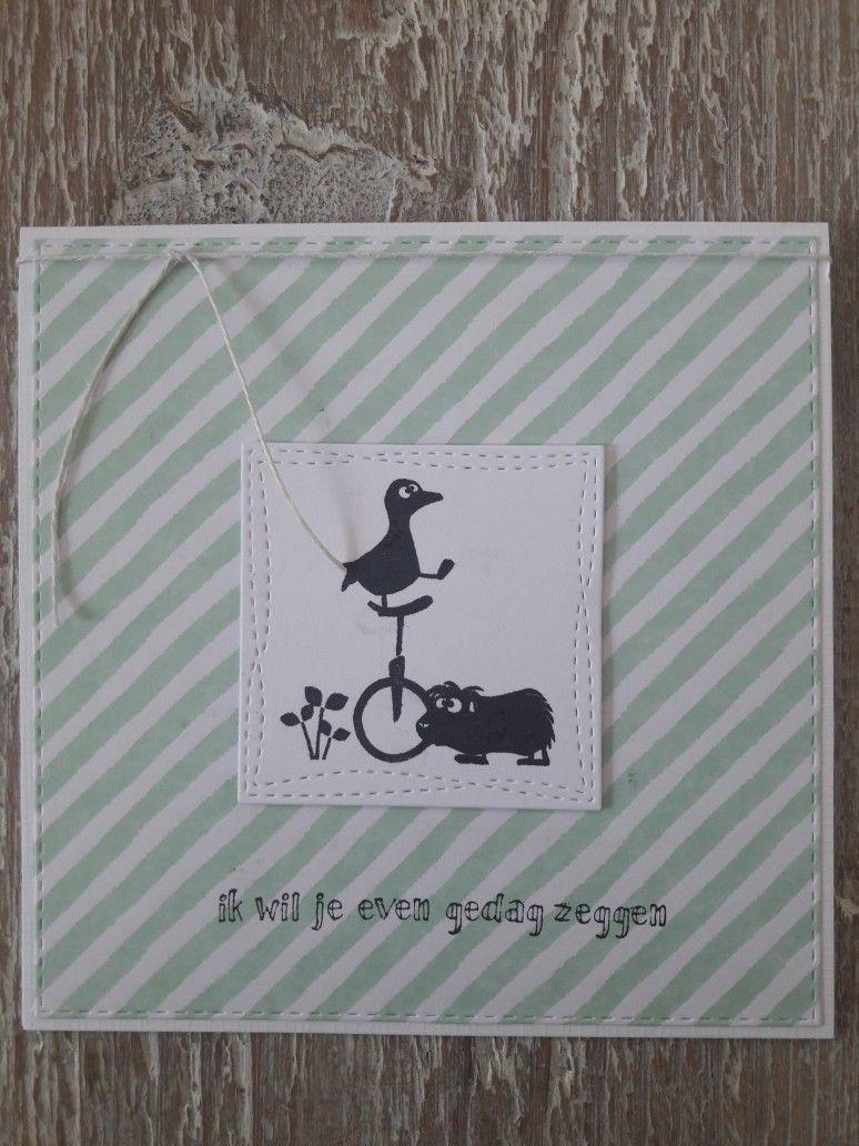 Gemaakt Door Diana Kaartje Met Cats On Appletrees Grete En Holger Tekst Different Colors Karten Stempelkarte Stempeln