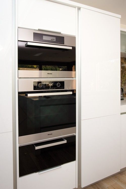 Double Oven Stacked W Microwave Kitchens Kitchen Oven