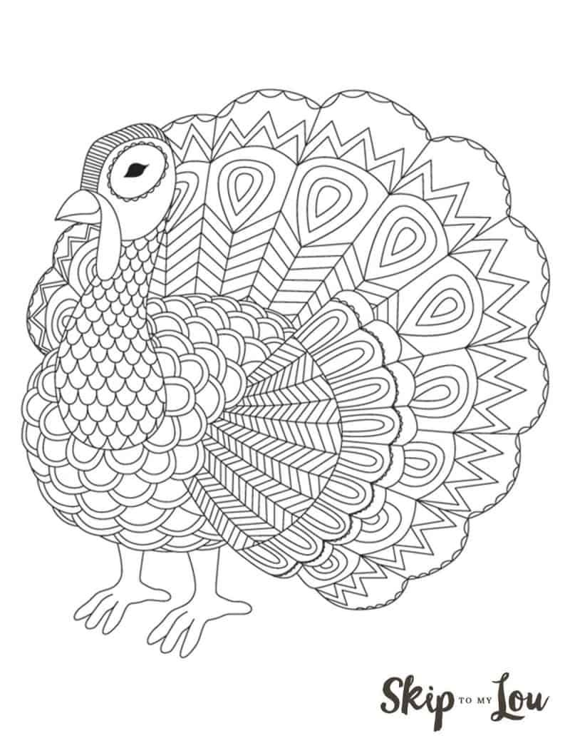 14+ Turkey Coloring Pages Thanksgiving Kids Page Book For Enchanting #adultcoloringpages