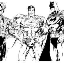 batman, spiderman and superman coloring page | superhelden malvorlagen, malvorlagen, malvorlagen