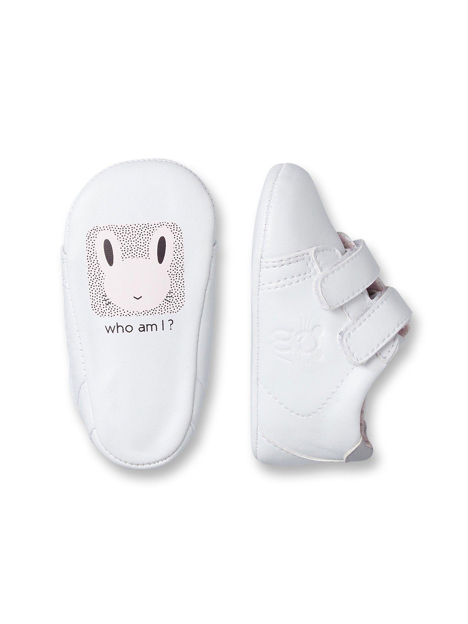 b92847c32cf9b Tennis à scratchs bébé - Blanc - Chaussures - Obaïbi   Okaïdi ...
