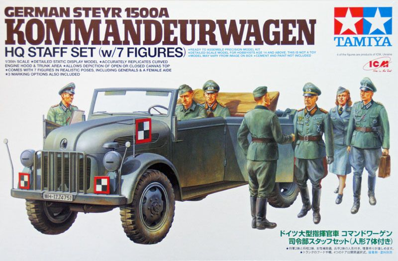 German Steyr 1500A Kommandeurwagen – Tamiya 25149 | Military
