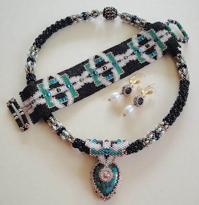 Peyote, Turquois Mosaic and freshwater pearls