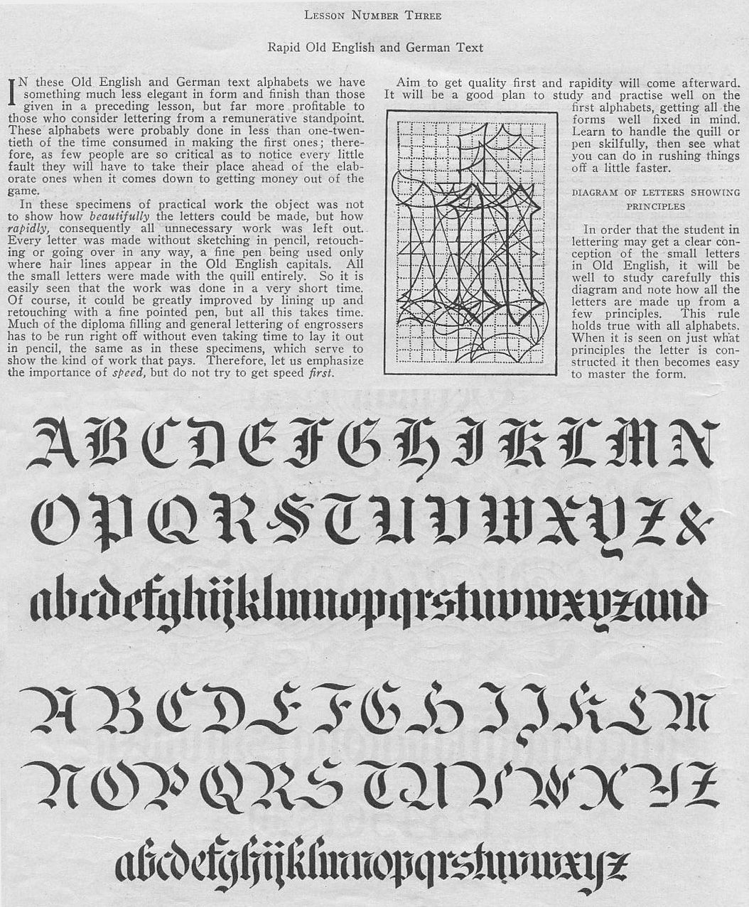 Lesson In Rapid Old English And German Calligraphy
