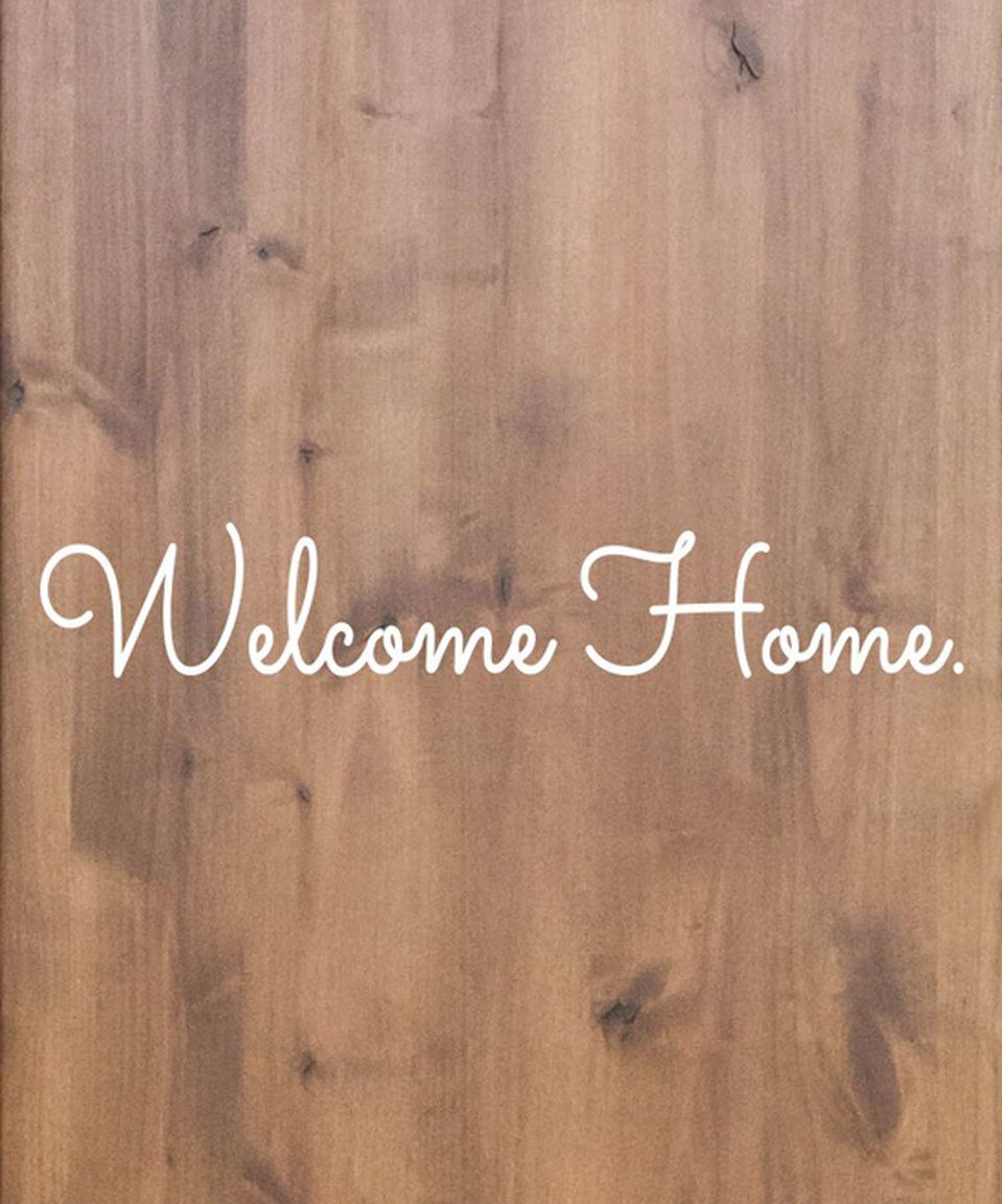 Look at this #zulilyfind! 'Welcome Home' Decal by TheVinylCompany #zulilyfinds